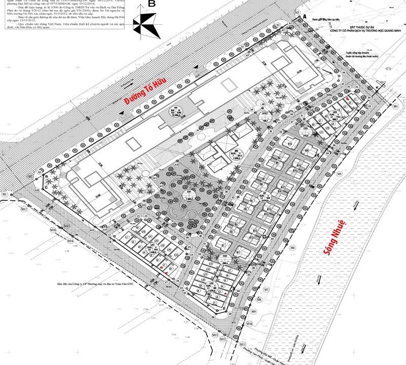 Sơ đồ phân lô dự án Roman Plaza