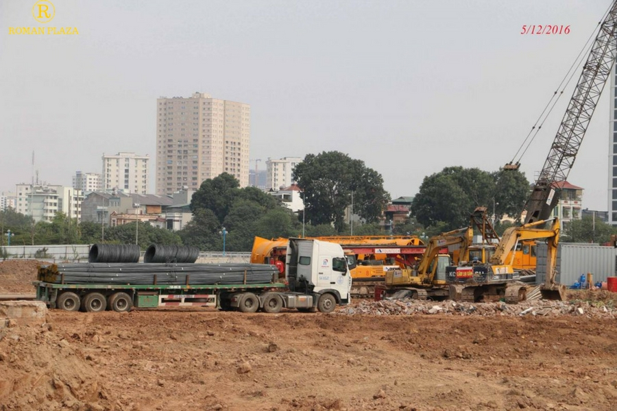 Tiến độ thực tế dự án roman plaza tháng 12