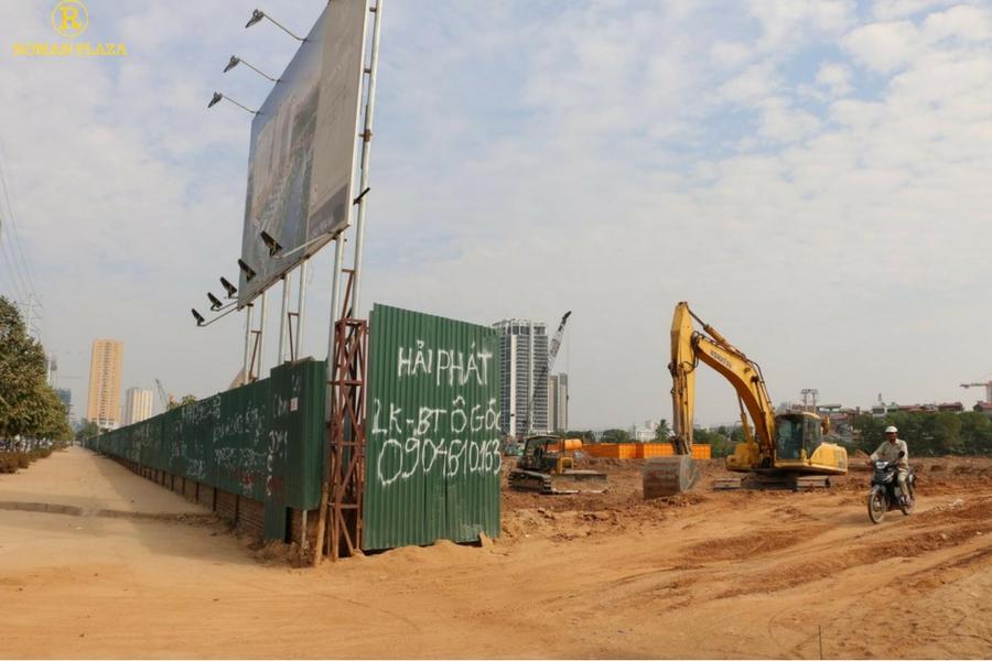 Tiến độ xây dựng roman plaza hải phát tháng 12