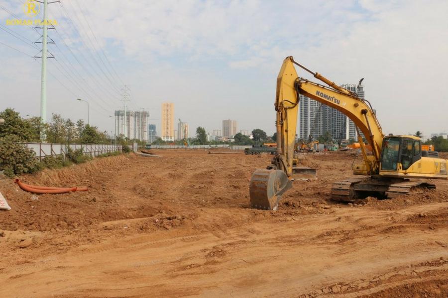 Hình ảnh thực tế dự án roman plaza tháng 12