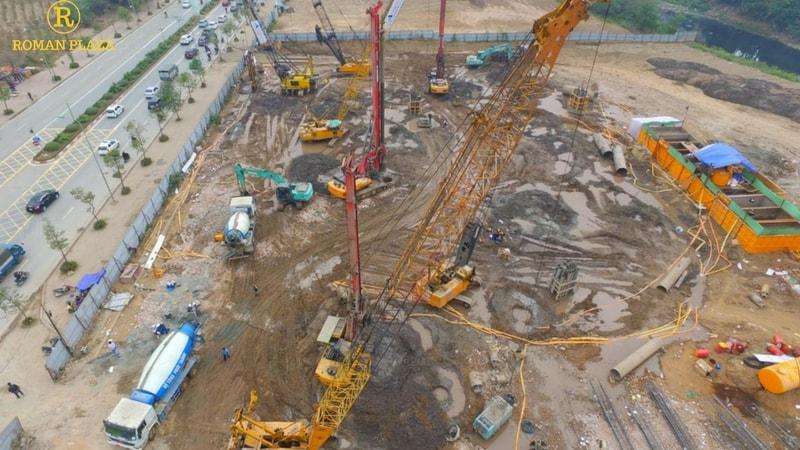 toàn cảnh công trường dự án roman plaza tháng 12 2016