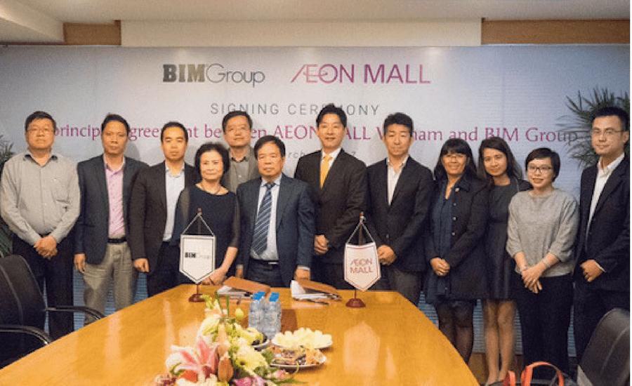 Hop tac Aeon Mall Hà Đông va Bim Group