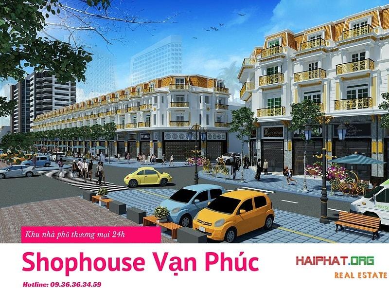 Khu nhà phố thương mại 24h - Shophouse Vạn Phúc Hà Đông
