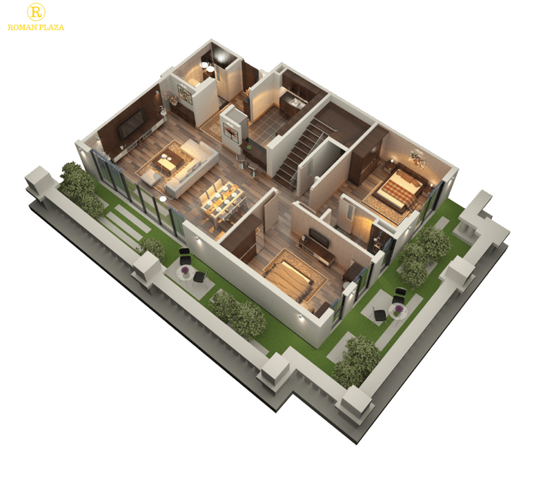 căn hộ Duplex tầng 1 chung cư Roman plaza