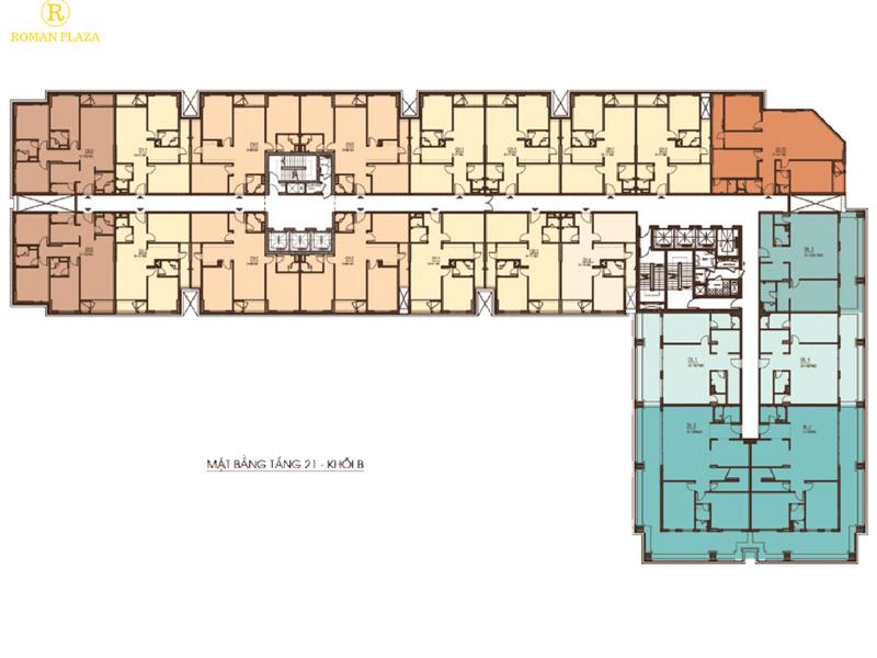 Thiết kế tòa B chung cư Roman Plaza