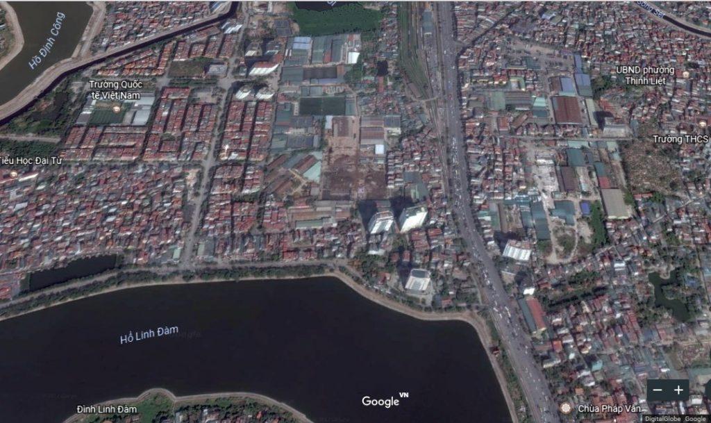 Vị trí hh3 eco lake view trên bản đồ google