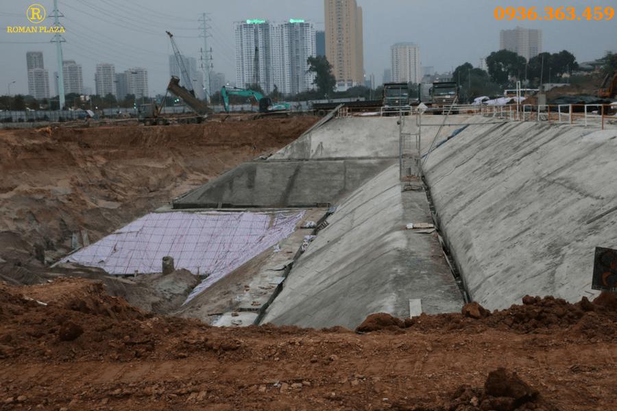 Tiến độ thi công xây dựng Roman Plaza tháng 2